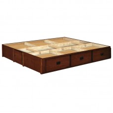 14 Inch Oak 6 Drawer Mission Creek Pedestal Available in King and Queen