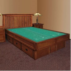 Mission Creek Waterbed With Slat Headboard & Case Pieces Available in King and Queen