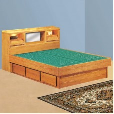 Coronado Bookcase Headboard Waterbed & La Jolla Casepieces Available in W. King, E. King and Queen
