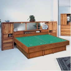 La Jolla Pier Wall Unit Waterbed with La Jolla Casepieces Available in W. King, E. King, and Queen