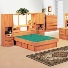 Coronado Wall Unit Waterbed with La Jolla Casepieces Available in W. King, E. Queen. and Queen