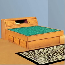 Matrix Bookcase Headboard Waterbed & Casepieces Available in W. King, E. King, and Queen
